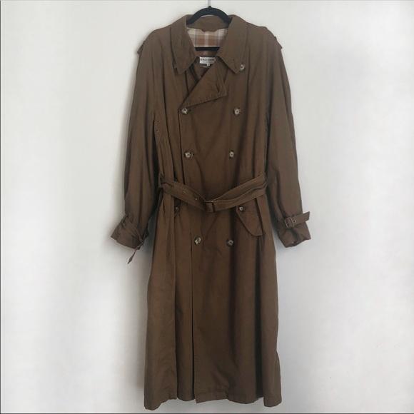 buy online 6197b 9c761 Giorgio Armani le Collezioni Brown Trench Coat